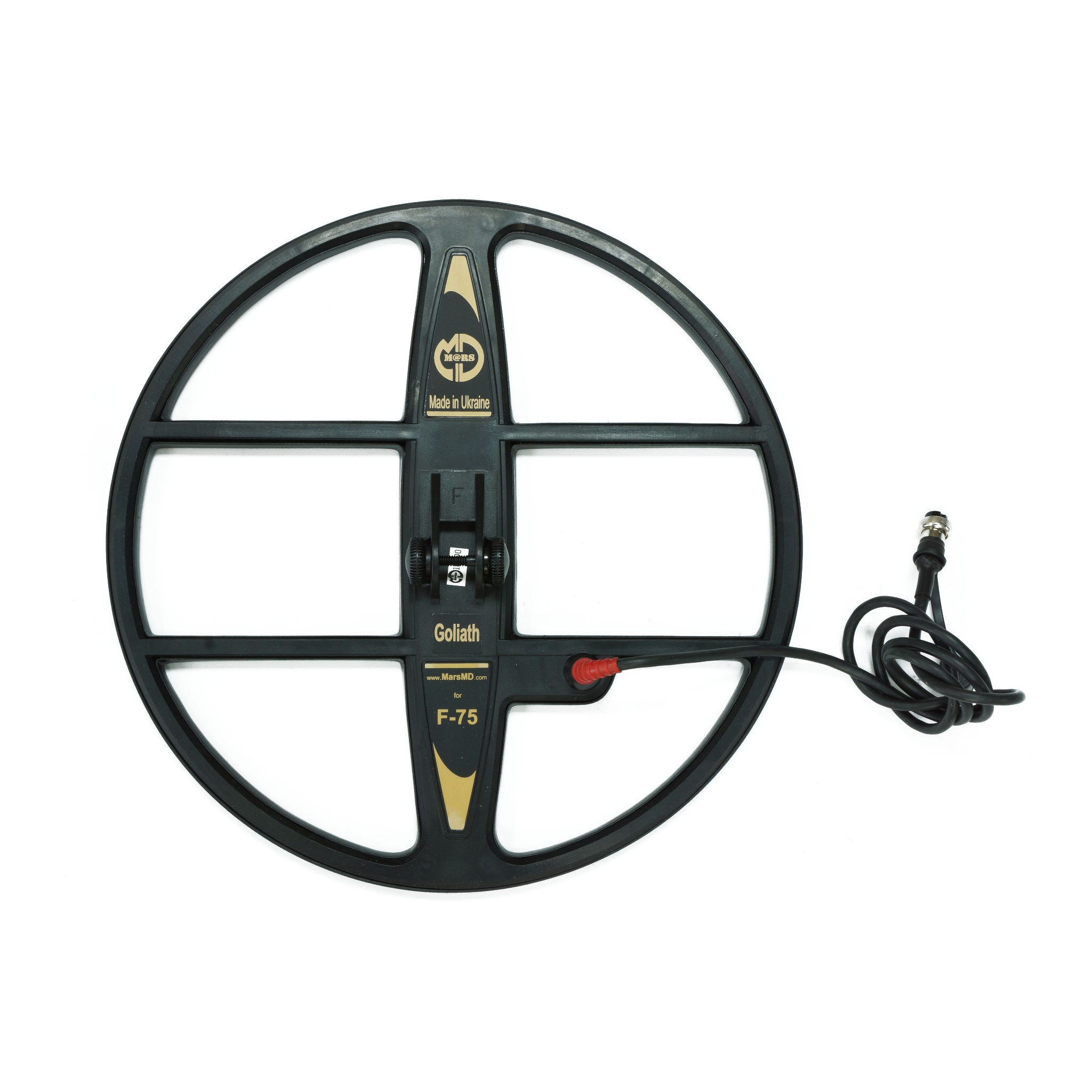 """Mars Goliath 15"""" DD Waterproof Search Coil for Fisher F75 Metal Detector - Detector Supply Company"""